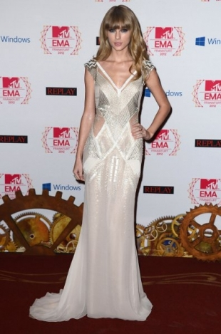 Taylor Swift Red Carpet Dress 2012 MTV EMAs