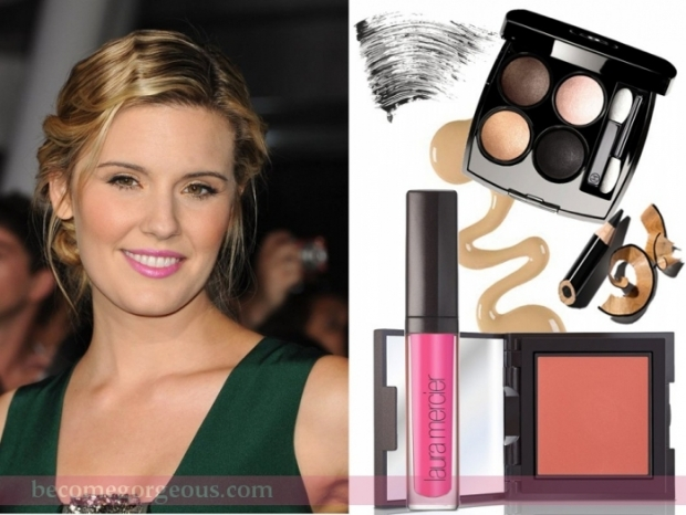 Maggie Grace Pink Lips Makeup Look