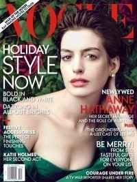 Anne Hathaway Covers Vogue December 2012