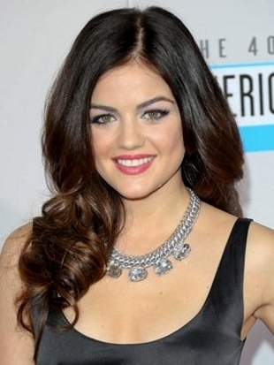 Lucy Hale Hairstyle 2012 AMAs