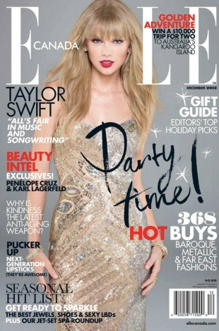 Taylor Swift Covers Elle Canada December 2012
