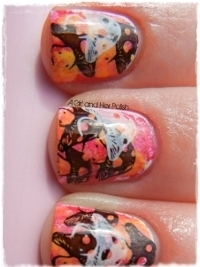 Sponge and Stamping Nail Art Tutorial
