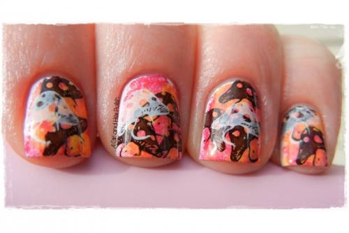 Sponge and Stamping Nail Art Tutorial A Girl and Her Polish