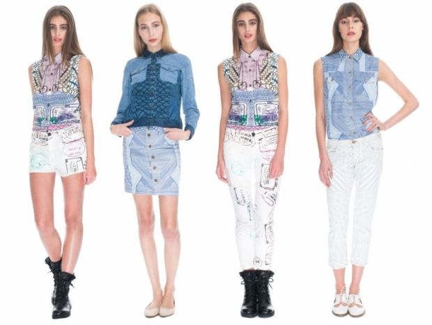 currentelliottmarykatrantzouss2013denimcapsule1 thumb - Current/Elliott x Mary Katrantzou 2013 �lkbahar-Yaz Koleksiyonu