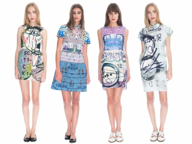 currentelliottmarykatrantzouss2013denimcapsule2 thumb - Current/Elliott x Mary Katrantzou 2013 �lkbahar-Yaz Koleksiyonu