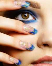 Gems and Rhinestones Nail Art Ideas