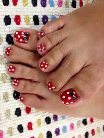 If you're looking for a simple toe nail art design with a lowstyling ...
