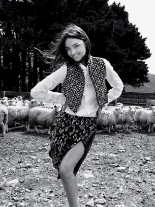 Miranda Kerr Boomrock sheep farm