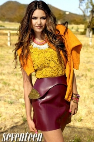 Nina Dobrev Covers Seventeen October 2012