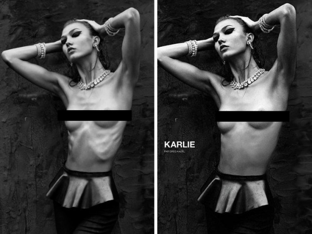 Karlie Kloss Gets Visible Ribs Photoshopped Out for Numero Magazine Spread