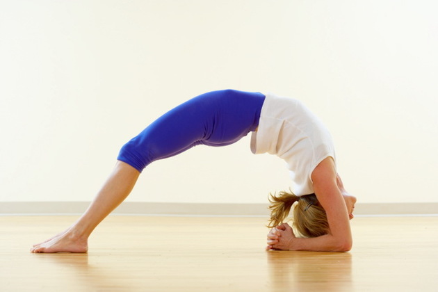 Headstand Bridge Yoga Pose