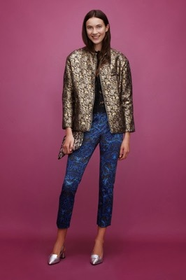 Asos Holiday 2013 Metallic Pants And Blazer Mix