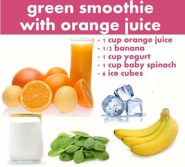 Green Smoothie With Orange Juice