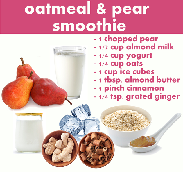Oatmeal And Pear Smoothie Recipe