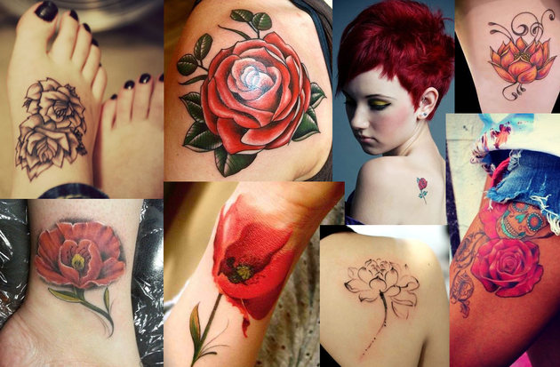 Small Floral Tattoos