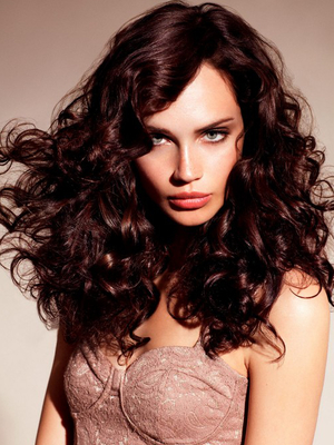 Romatic Curly Hairstyle