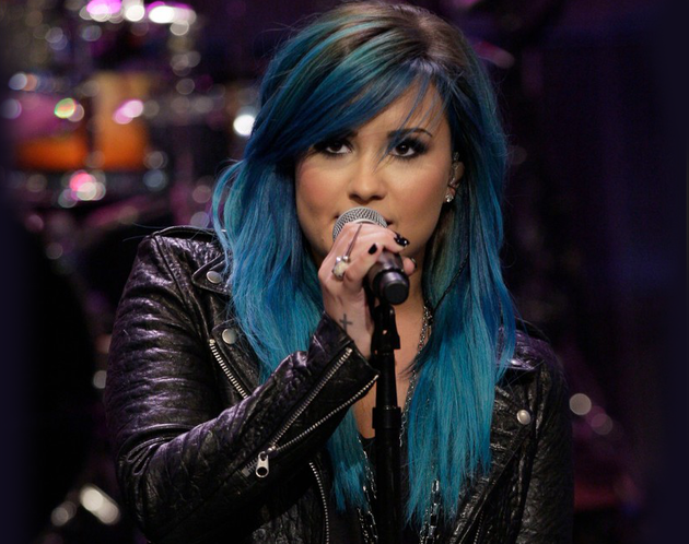 Demi Lovato Debuts Blue Hair Color and Talks Nail Polish Line