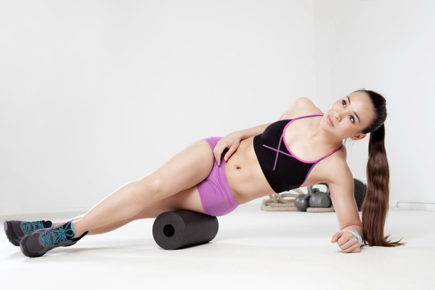 Stretching With Foam Roller