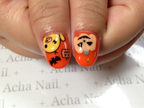 Pumpkin Nail Art For Halloween