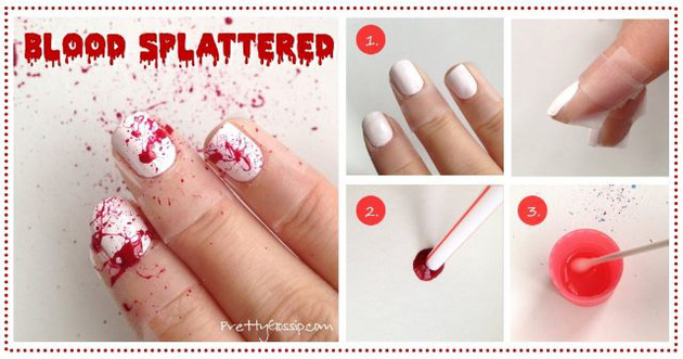 Pictures : Halloween Nail Art Inspiration - Blood ...