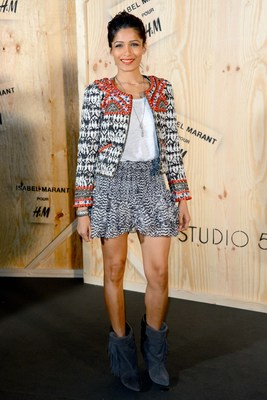 Frieda Pinto At Isabel Marant For H M Launch Party