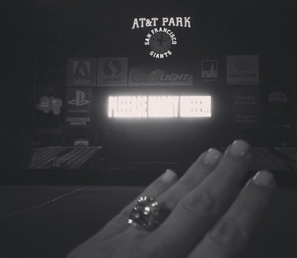 Kim Kardashian Kanye West Engagement Ring