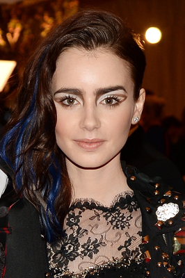 Lily Collins Blue Highlights