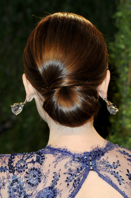 Lily Collins Updo