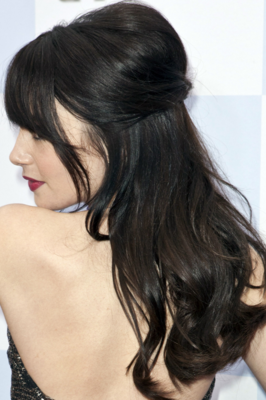 Lily Collins Wavy Hair Back View