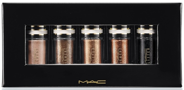 Mac Black And Gold Nocturnals Mini Pigment   Glitter Set