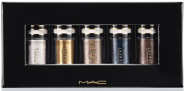 Mac Green And Teal Nocturnals Mini Pigment   Glitter Set