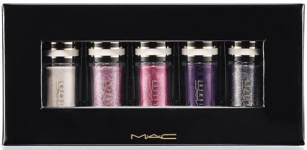 Mac Silver And Violet Nocturnals Mini Pigment   Glitter Set