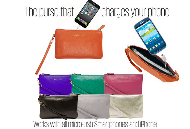 Mighty Purse - The Purse that Charges Cell Phones