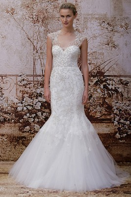 Monique Lhuillier Fall 2014 Wedding Gown  (10)
