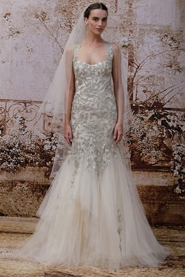 Monique Lhuillier Fall 2014 Wedding Gown  (11)