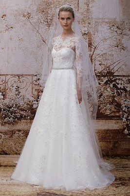 Monique Lhuillier Fall 2014 Wedding Gown  (7)