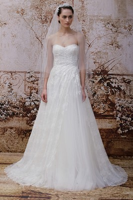 Monique Lhuillier Fall 2014 Wedding Gown  (8)
