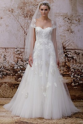 Monique Lhuillier Fall 2014 Wedding Gown  (9)