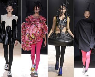 Check out the coolest spring 2014 looks from Jean Paul Gaultier, Kenzo, Vivienne Westwood, Tsumori Chisato and Comme des Garcons.