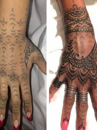 Rihanna Gets New Hand Tattoo