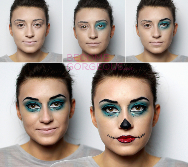 Skelita Cavaleras Makeup Steps