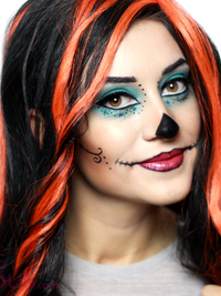 Skelita Calaveras Monster High Makeup Tutorial for Halloween
