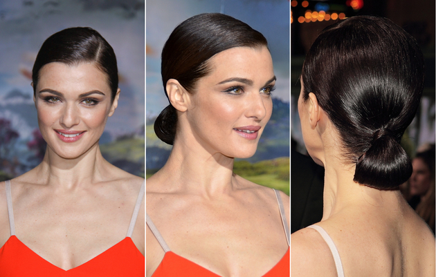 Rachel Weisz Low Bun Hairstyle