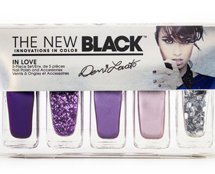 Check out the new Demi Lovato The New Black nail polish sets.