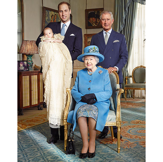 The Royal Family's  Official Christening Photos Of Prince George