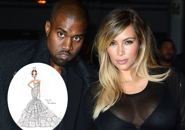 Theia Unveils Kim Kardashian Wedding Dress Sketch