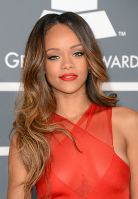 Rihanna Long Layered Hair