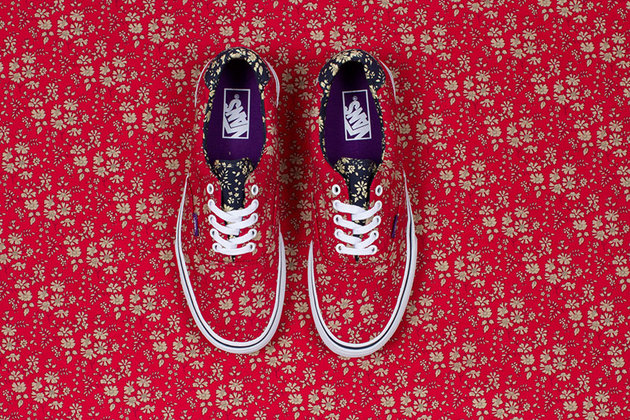Vans Liberty Holiday 2013 Floral Red Sneakers
