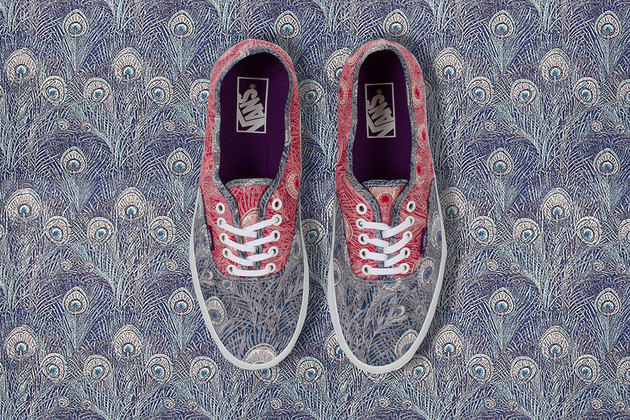 Vans Liberty Holiday 2013 Peacock Print Sneakers