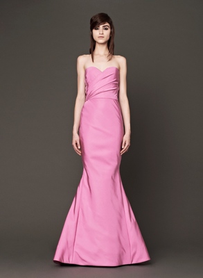 Vera Wang Fall 2013 Bridal Gown Pink